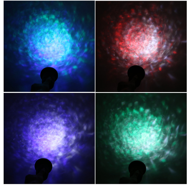 12W RGBW LED water ripples light waterproof projector stage lamp