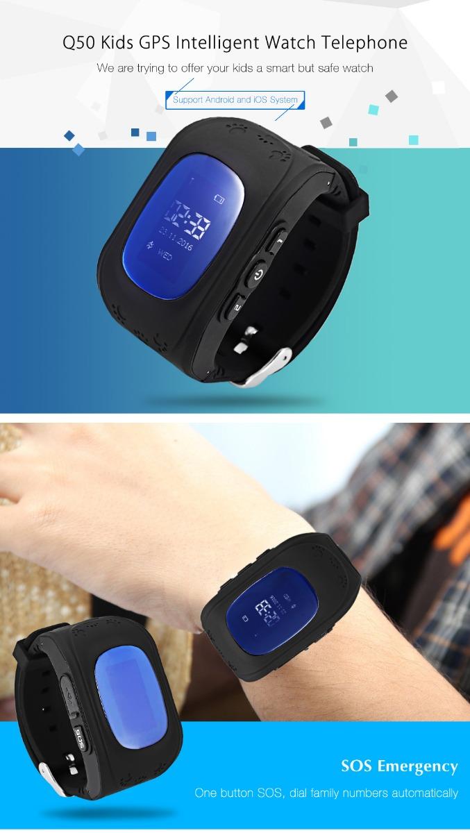 Q50 (q1213) Waterproof LCD Display Kids GPS Intelligent Watch Telephone Pedometer