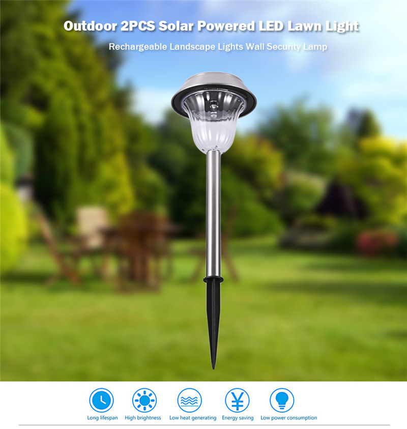 Solar Powered LED Lawn Light Security Lamp