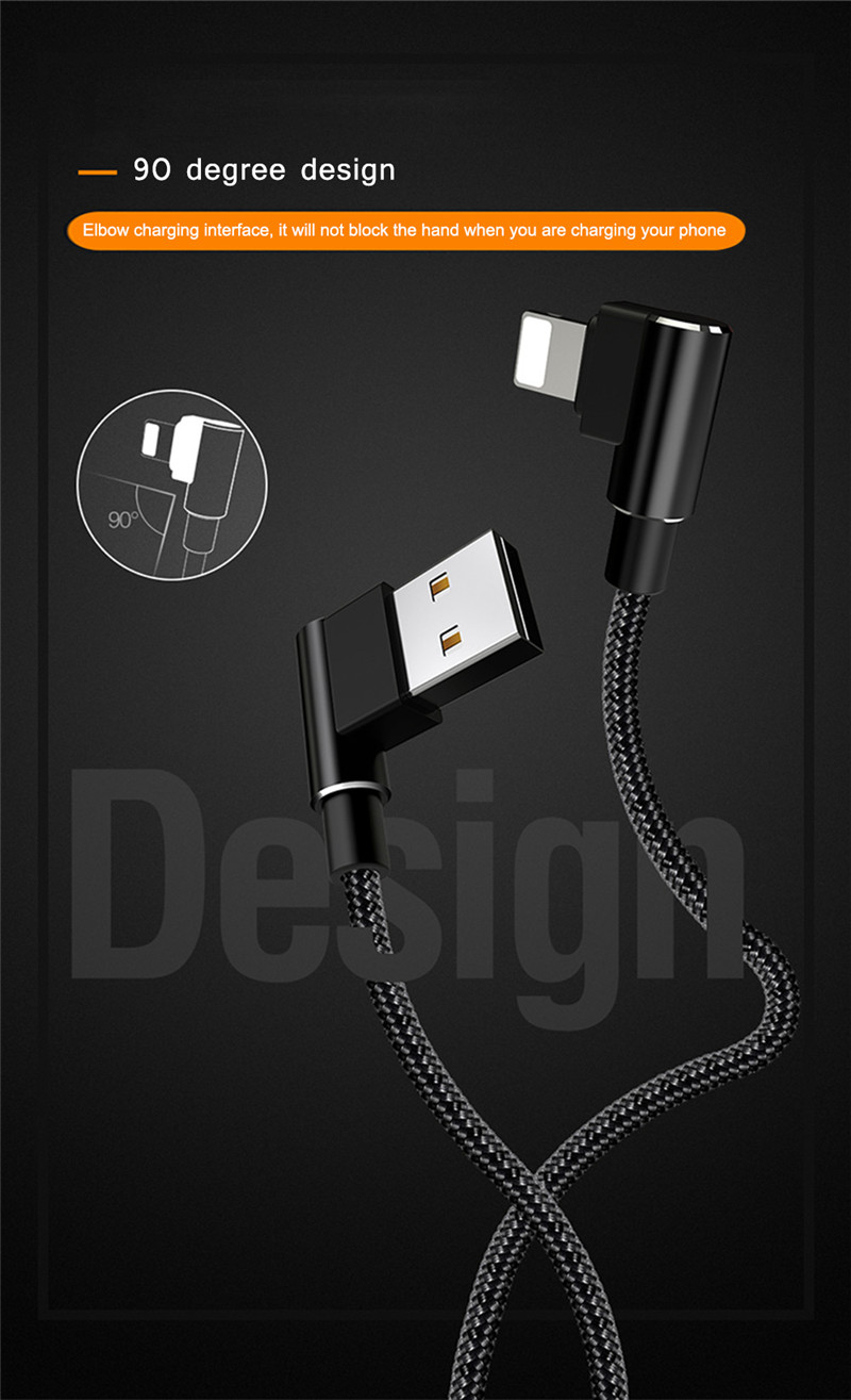 Mcdodo Dual Elbow Type 8 Pin Data Transmission Sync Cord 1.8M iphone