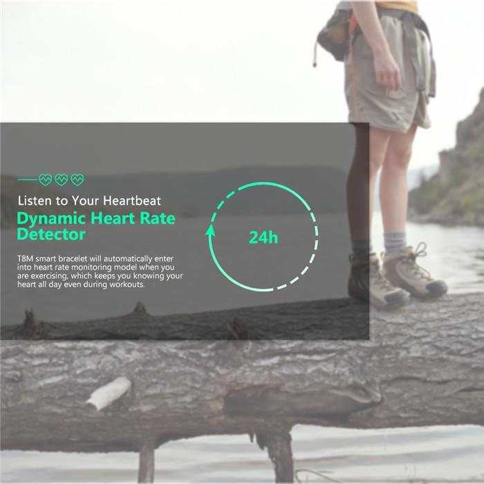 T8M Smart Watch Blood Pressure Measure Heart Rate Monitor Wristwatch