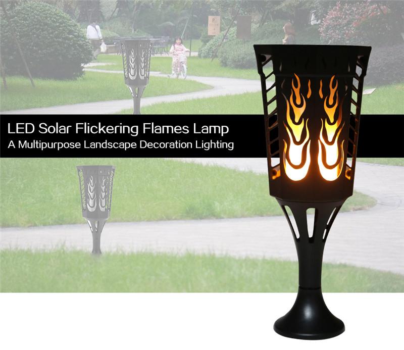 solar light path flame lamp landscape decoration lighting