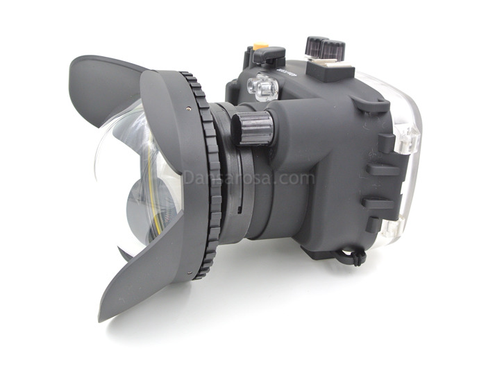 Sony NEX-7 waterproof case Fisheye dome port