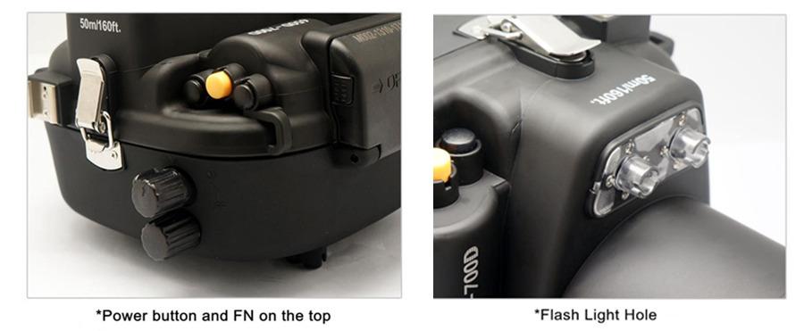 Canon 700D 650D T5I T4I waterproof case Fisheye fisheye adaptor