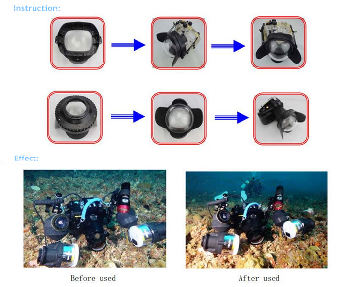 FDR-AX30 waterproof case Fisheye dome port