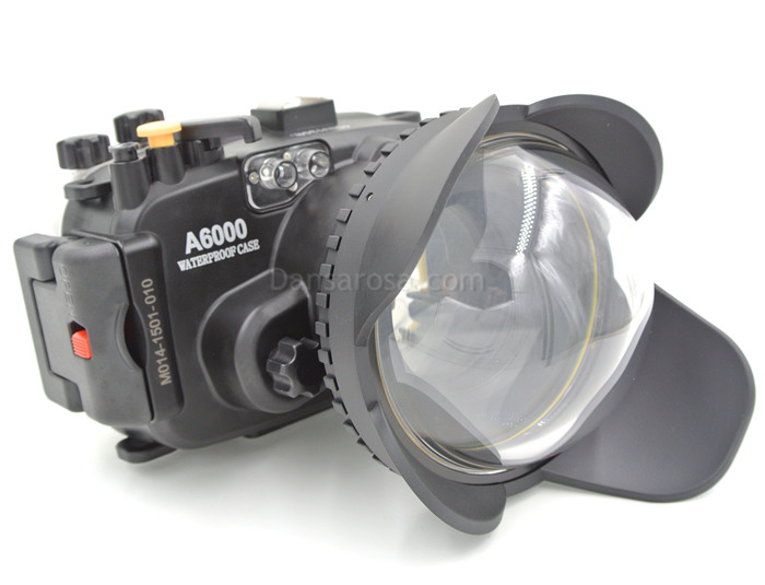 Sony A6000 waterproof case Fisheye dome port
