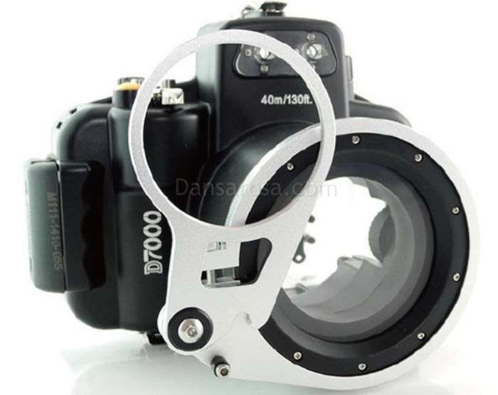 Nikon D7000 waterproof case Fisheye fisheye adaptor