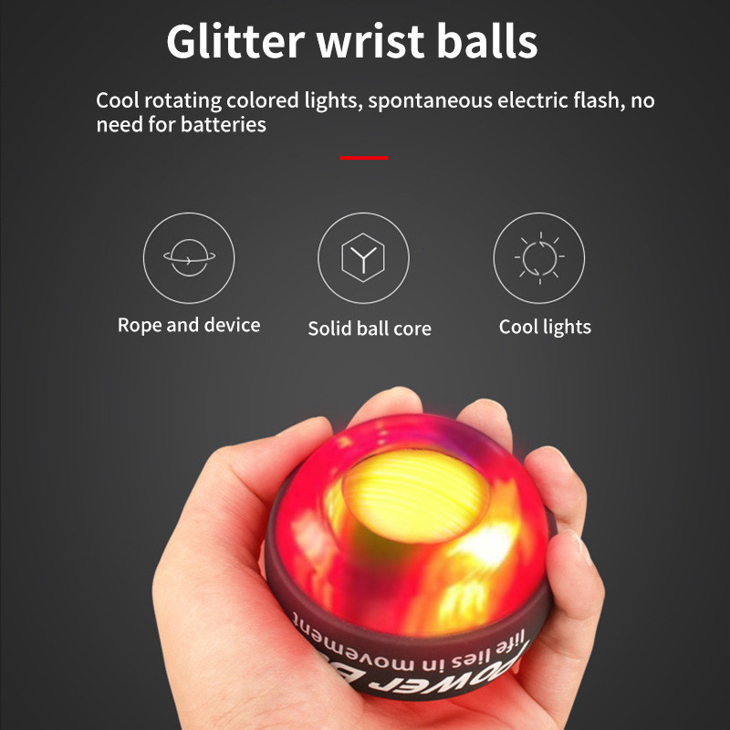 Power Wrist Ball Led Gyroscope