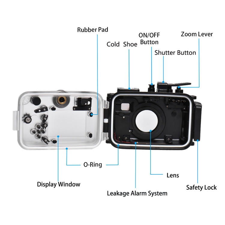 Olympus TG-6 Underwater Housing Waterproof Case detail