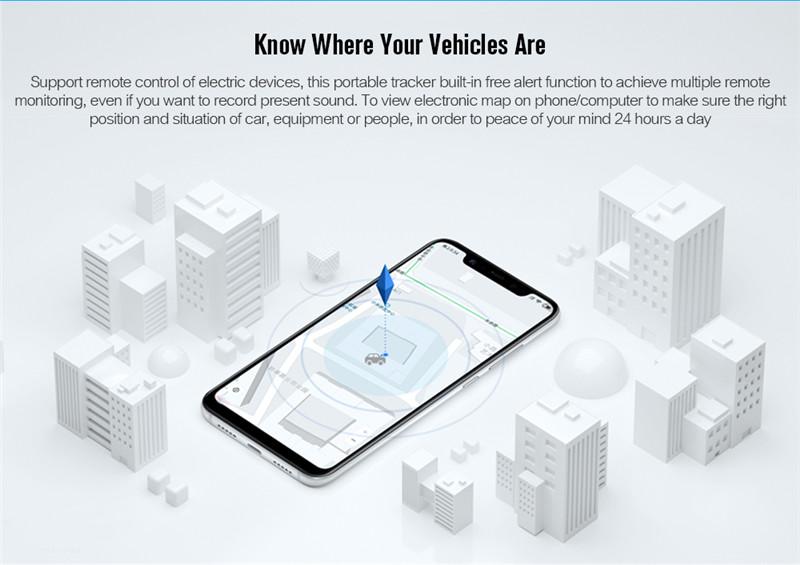 GF07 Magnetic Mini Car Tracker GPS