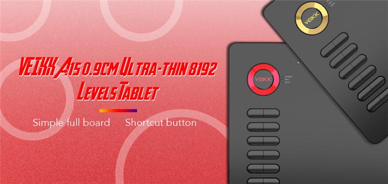 VEIKK A15 0.9cm Ultra-thin 8192 Levels Tablet