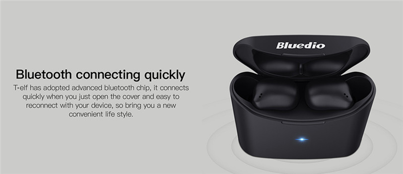 Bluedio T-elf 2 True Wireless Bluetooth Earbuds Touch Control Earphones