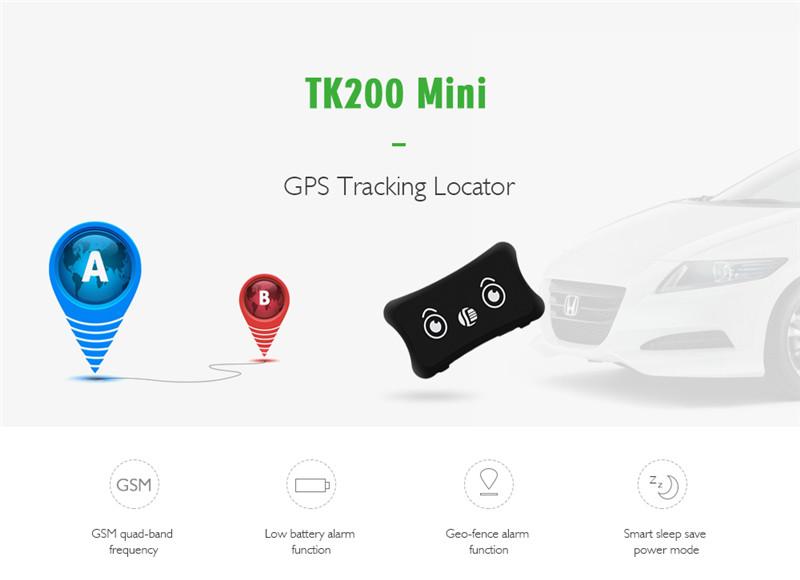 TK200 Mini Real-time Pet GPS Tracker