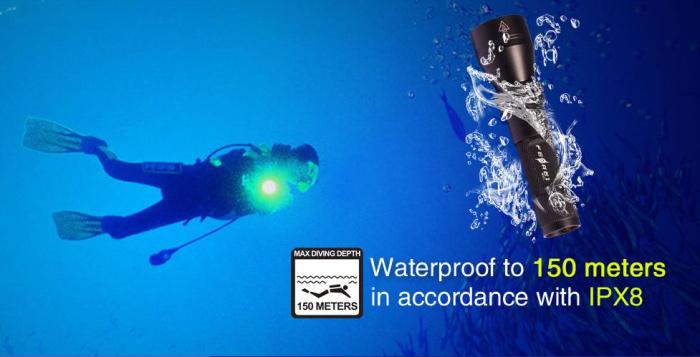 w151 Waterproof torch