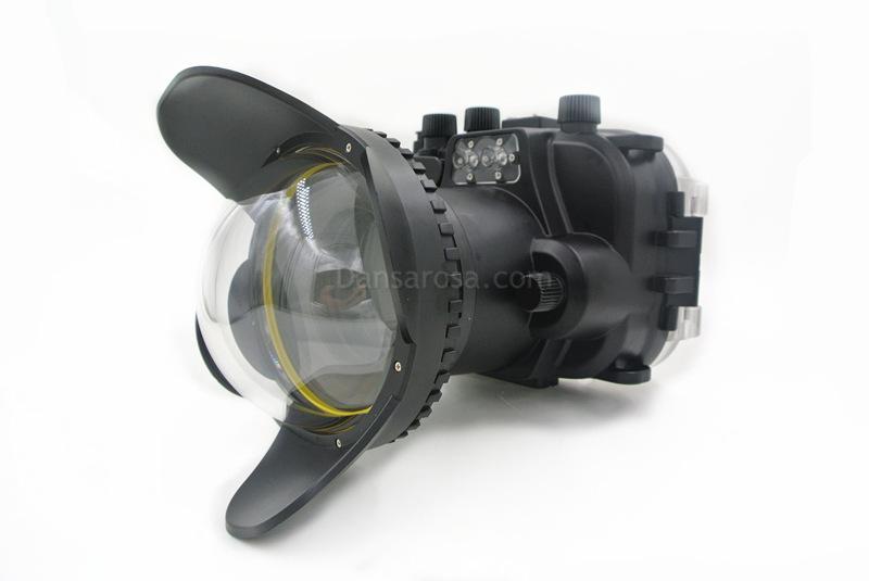 Fisheye dome for OMD EM-10 underwater housing