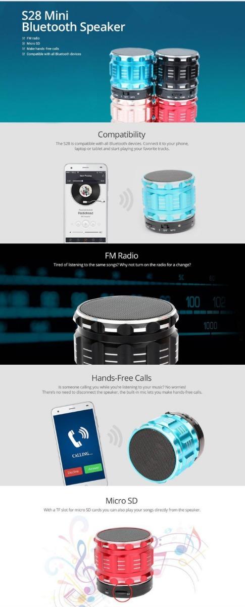 Metal mini speaker with mic