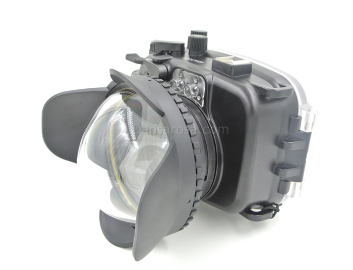 Fujifilm X100S waterproof case Fisheye dome port