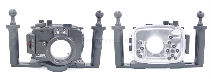 Fujifilm X100S waterproof case aluminum tray set double handles