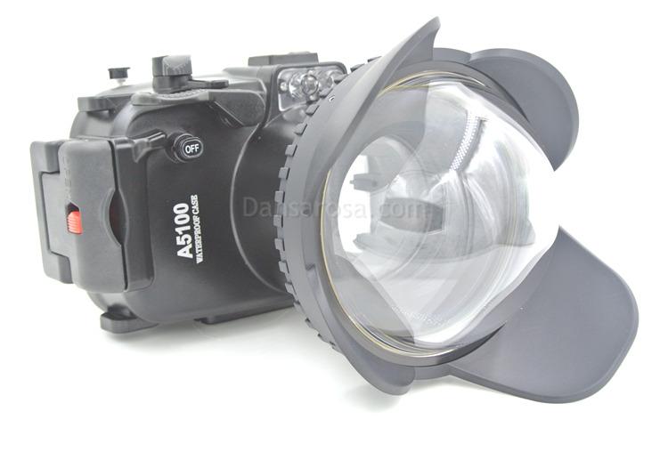 Sony A5100 waterproof case Fisheye dome port