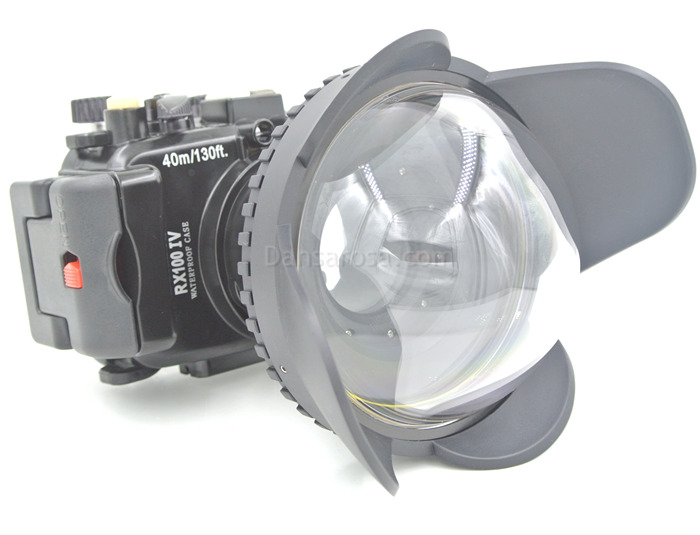 Sony RX100 IV waterproof case Fisheye dome port