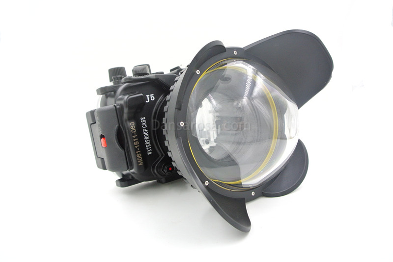 Fisheye lens for nikon j1 waterproof case