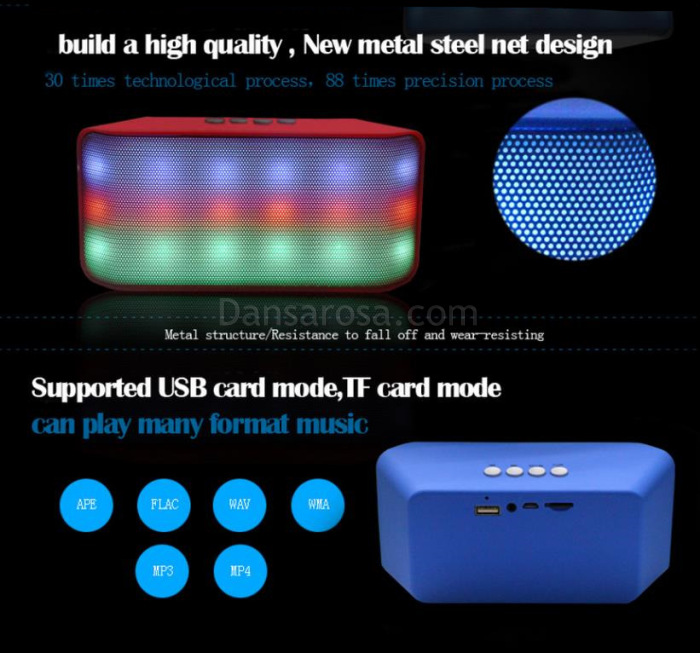 LED Flash Light Mini Bluetooth Speaker V3168