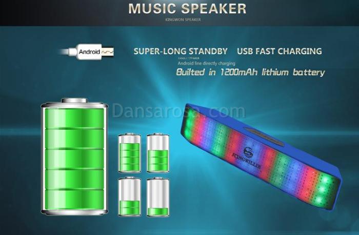 JHW-V336 LED Light Portable Mini Bluetooth Speaker Sound Box