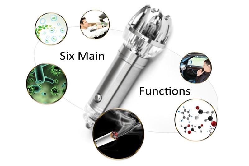 JO - 6821 car air Purifier ionizer mini auto vehicle gadget pure odor eliminator cleaner