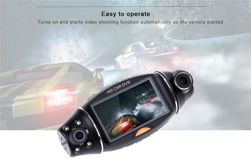R310 GPS wide angle night vision driving recorder