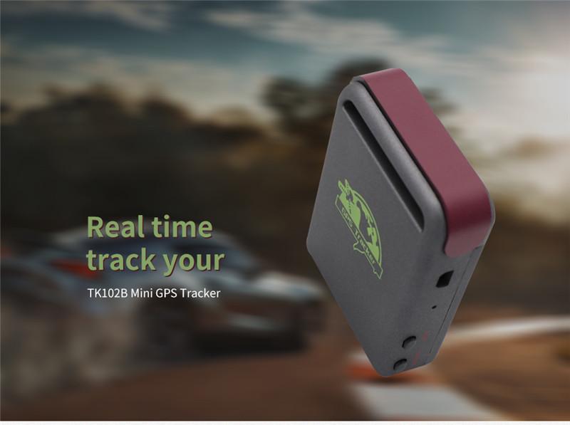 TK102B Mini Real-time GPS Tracker Vehicle Tracking Device