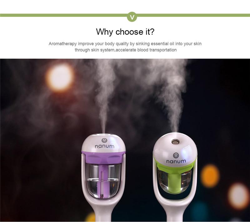 Mini 12V car steam humidifier air purifier car humidifier