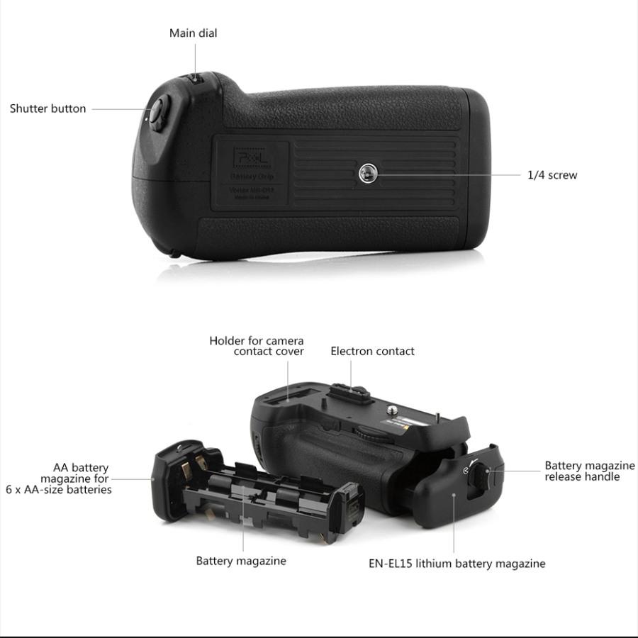 PIXEL Vertax D12 Battery Grip Holder For Nikon D800 D800E