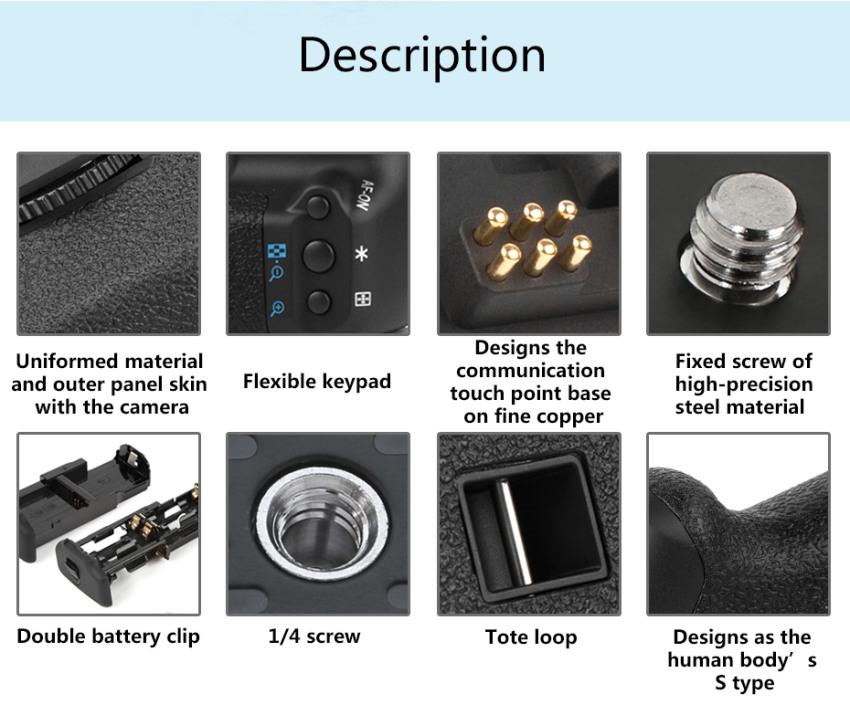 PIXEL Vertax E8 Battery Grip For Canon 550D 600D 700D
