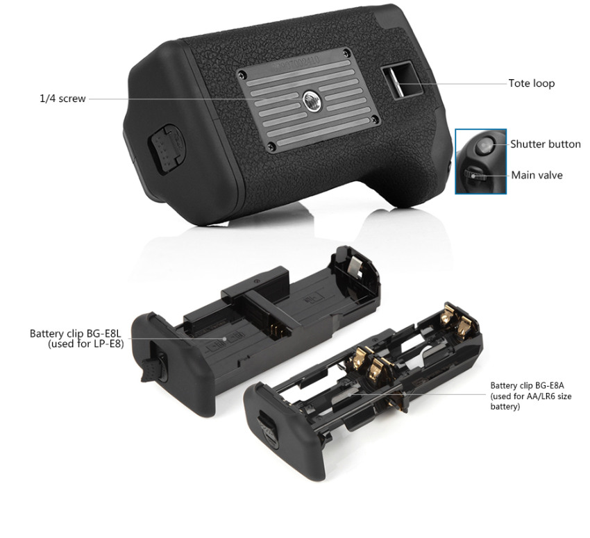PIXEL Vertax E8 Battery Grip For Canon 550D 600D 700D