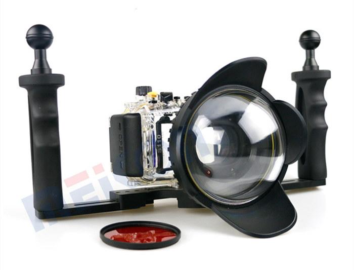 Canon S110 waterproof case aluminum tray set double handles