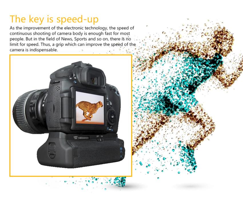 Pixel Vertax E9 Battery Grip For Canon 60D
