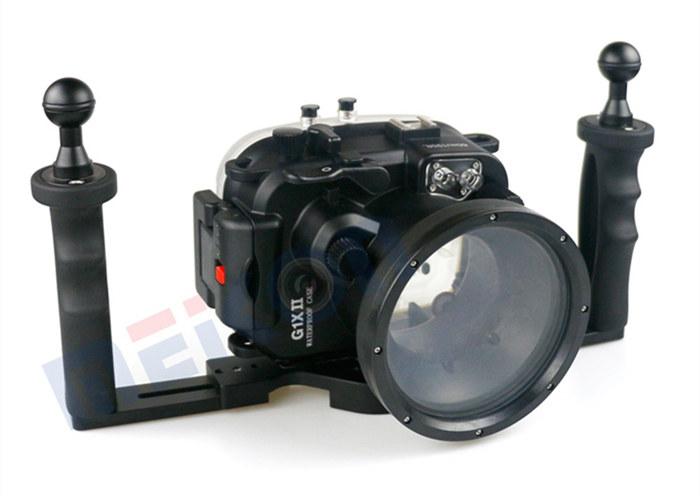 Canon G1X Mark II waterproof case aluminum tray set double handles