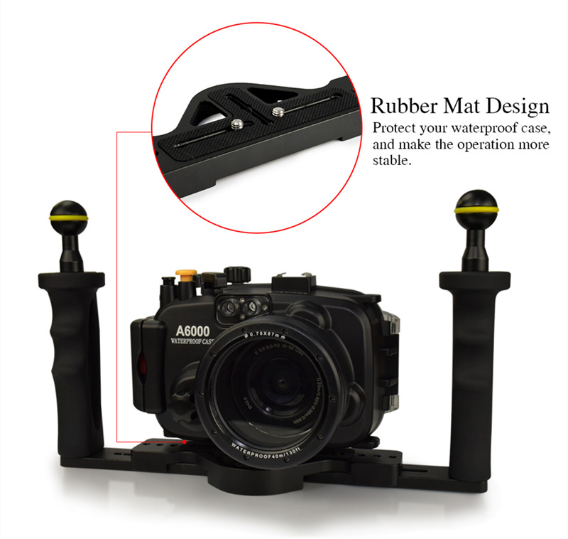 Double Handles Aluminum Tray Set For Underwater Camera Housing