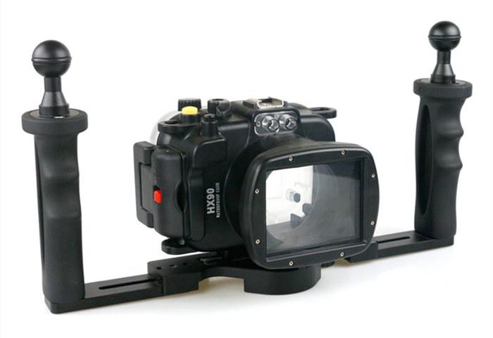 Sony WX500 waterproof case aluminum tray set double handles