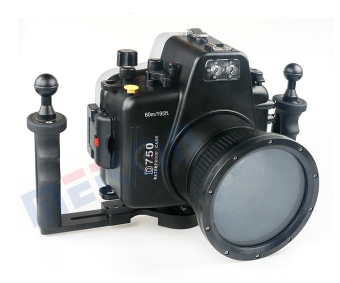 Nikon D750 waterproof case aluminum tray set double handles