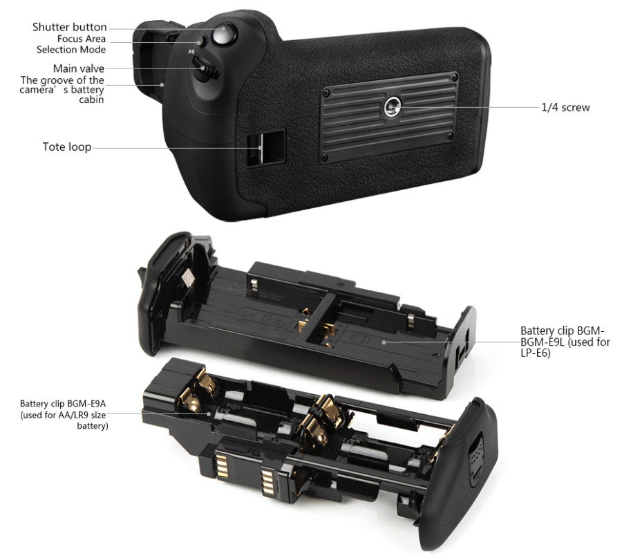 Pixel Battery Grip Holder Vertax E14 For Canon 70D