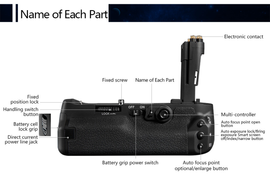 Pixel Vertax E16 Battery Grip for Canon EOS 7D Mark II