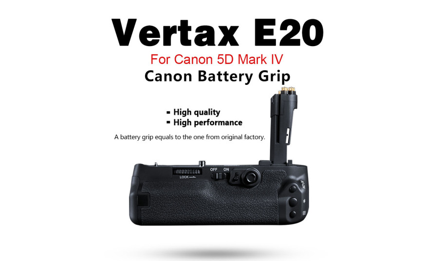 Pixel Vertax E20 Battery Grip Holder for Canon 5D Mark IV