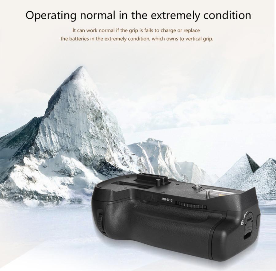 Pixel Vertax E15 Battery Grip Holder for Nikon D7100 D7200