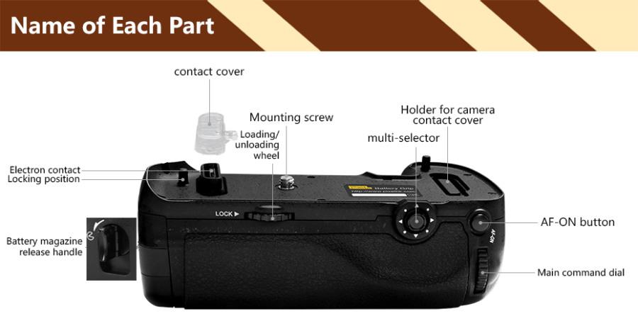 Pixel Vertax D17 Battery Grip Holder For Nikon D500