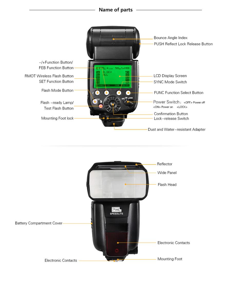 PIXEL X800C Pro E-TTL HSS Wireless Flash Speedlite for Canon