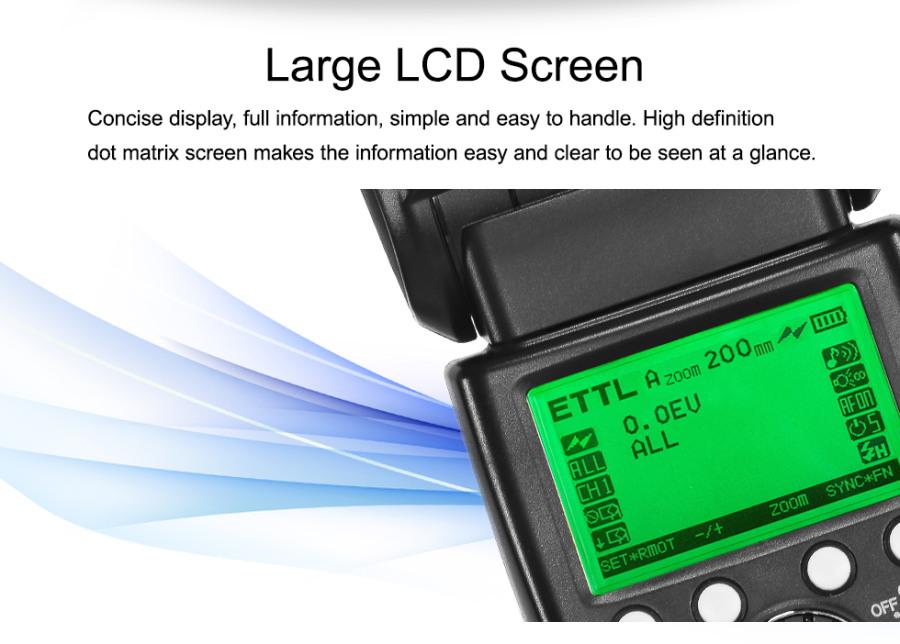 PIXEL X800C E-TTL HSS Wireless Flash Speedlite for Canon