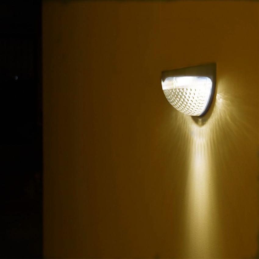 Solar Powered 6 LED Sensor Wall Light Outdoor Garden Fence Lamp