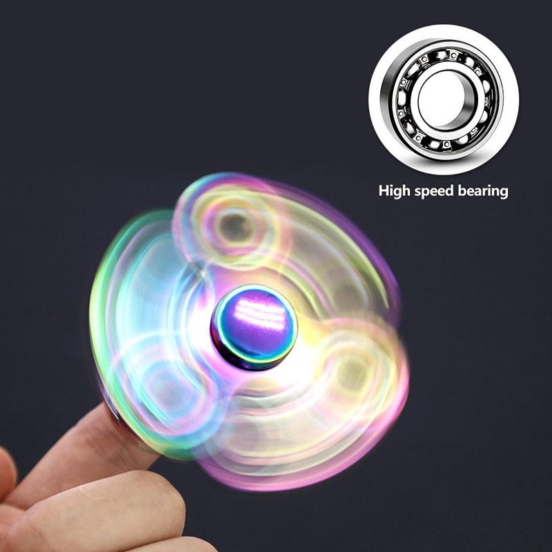 Tri-Star Aluminum Fidget Spinners Fingertip Gyro Toys
