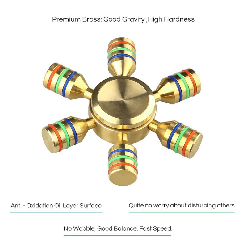 Golden Strong Man Aluminum Fidget Spinners Fingertip Gyro Toys
